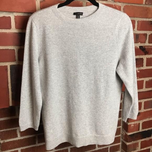 Talbots Cashmere Metallic Blend Sweater Top